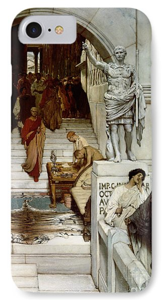 An Audience At Agrippa's Phone Case by Sir Lawrence Alma-Tadema