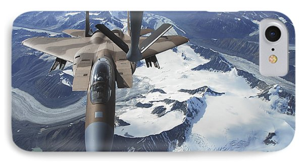 An F-15c Eagle Aircraft Sits Phone Case by Stocktrek Images