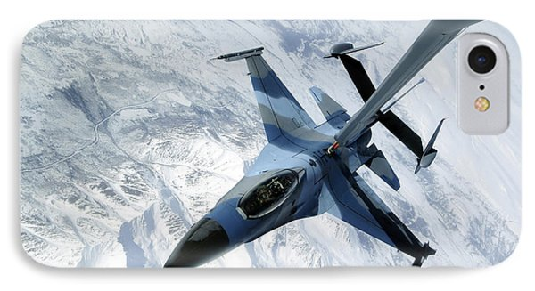 An F-16 Aggressor Sits In Contact Phone Case by Stocktrek Images
