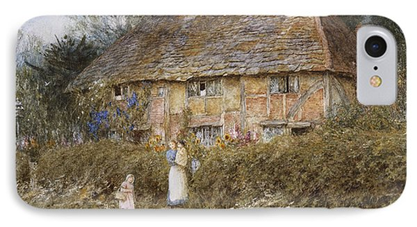 An Old Surrey Cottage Phone Case by Helen Allingham