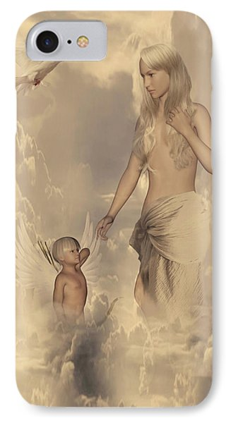 Aphrodite And Eros IPhone Case by Lourry Legarde