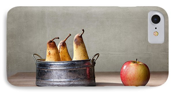 Apple And Pears 01 IPhone 7 Case by Nailia Schwarz