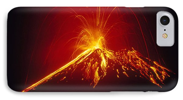 Arenal Volcano Erupting Phone Case by Gregory G. Dimijian