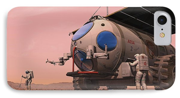 Artists Concept Of How A Martian Phone Case by Walter Myers