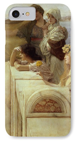 At Aphrodite's Cradle IPhone Case by Sir Lawrence Alma-Tadema