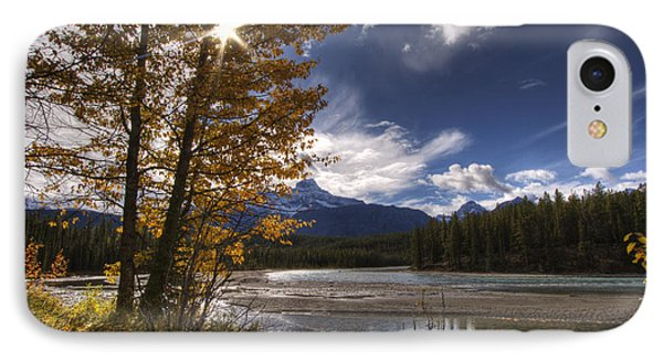 Athabasca River With Mount Fryatt Phone Case by Dan Jurak