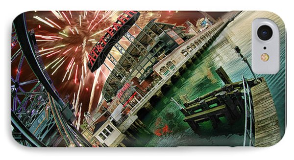 Att Park And Fire Works Phone Case by Blake Richards
