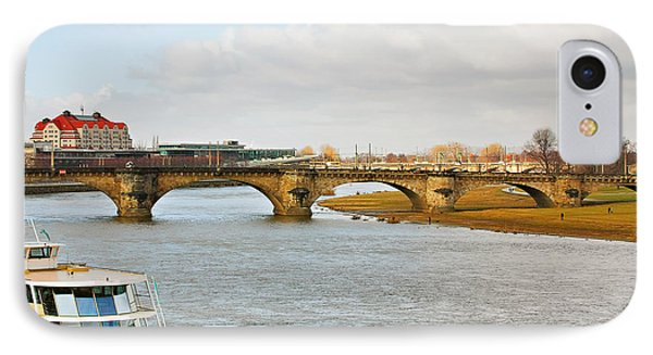 Augustus Bridge Dresden Germany Phone Case by Christine Till