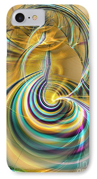 Aurora Of Yellowness Phone Case by Sipo Liimatainen