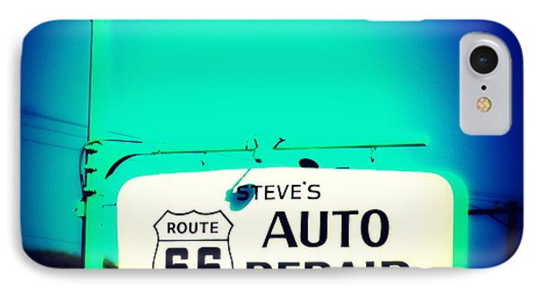 Auto Repair Sign On Route 66 Phone Case by Susanne Van Hulst