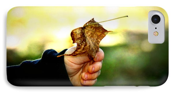 Autumn In Hand Phone Case by Kelly Hazel