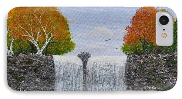 Autumn Waterfall Phone Case by Georgeta  Blanaru