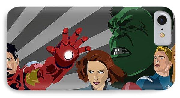 Avengers Assemble Phone Case by Lisa Leeman
