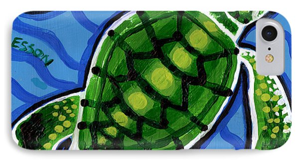 Baby Green Sea Turtle Phone Case by Genevieve Esson