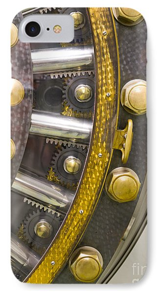 Backside Of A Bank Vault Door Phone Case by Adam Crowley