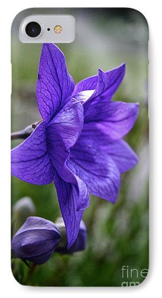 Balloon Flower Profile Phone Case by Susan Herber