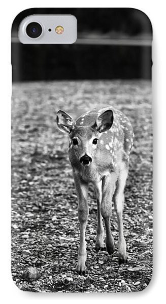 Bambi In Black And White Phone Case by Sebastian Musial