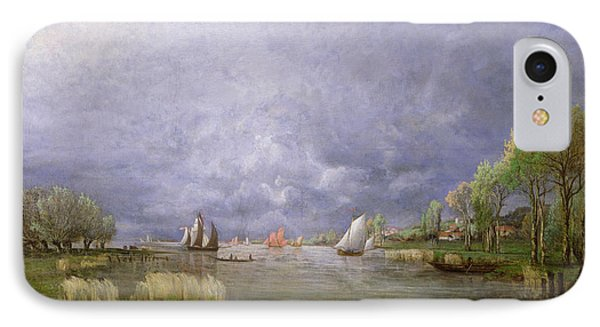 Banks Of The Loire In Spring Phone Case by Charles Leroux