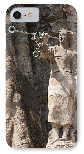 Barcelona Church Sagrada Familia Nativity Facade Detail Phone Case by Matthias Hauser