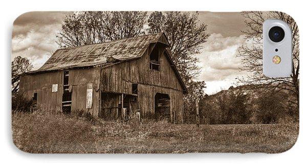 Barn In Turbulent Sky Phone Case by Douglas Barnett