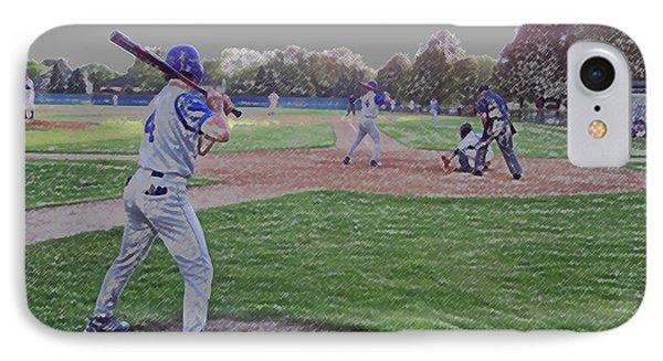 Baseball On Deck Digital Art Phone Case by Thomas Woolworth
