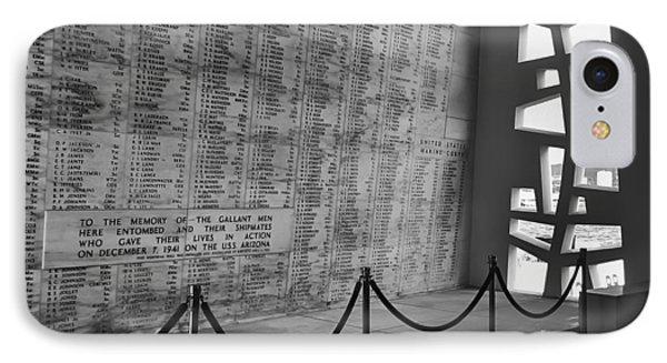 Battleship Arizona Memorial Wall - Pearl Harbor Hawaii Phone Case by Daniel Hagerman