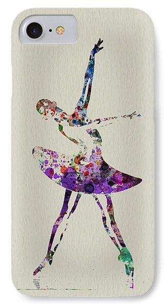 Beautiful Ballerina IPhone Case by Naxart Studio
