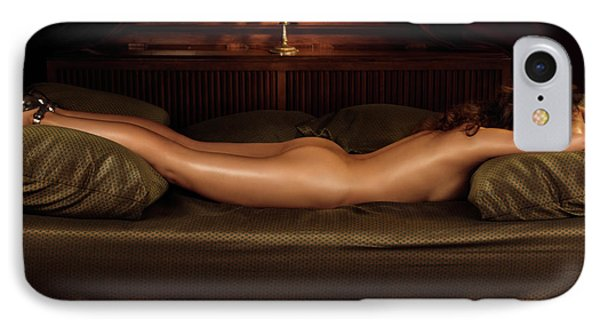 Beautiful Woman Sleeping Naked Phone Case by Oleksiy Maksymenko