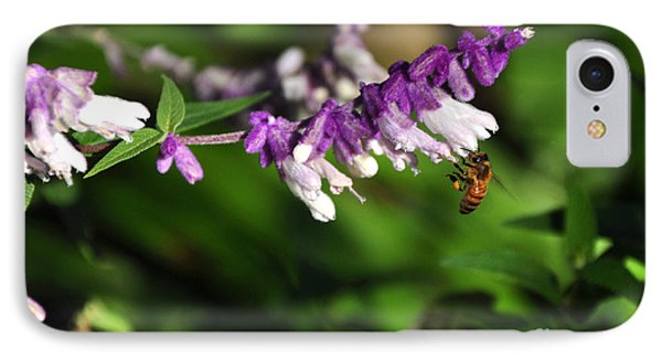 Bee On Flower Phone Case by Kaye Menner