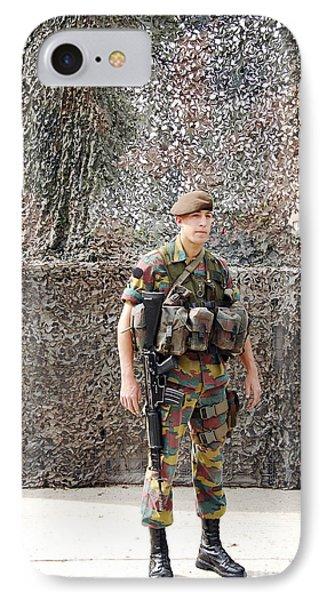 Belgian Soldier On Guard Phone Case by Luc De Jaeger
