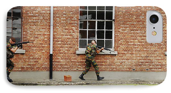 Belgian Soldiers On Patrol Phone Case by Luc De Jaeger