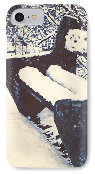 Bench With Snow IPhone Case by Joana Kruse
