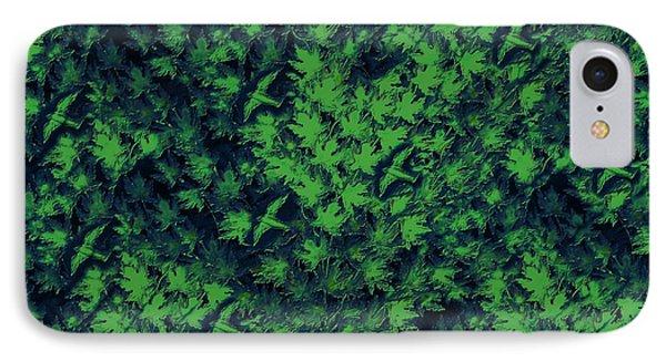 Birds In Green Phone Case by David Dehner