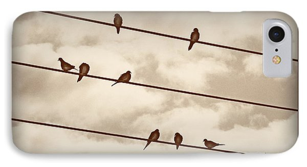 Birds On Wires Phone Case by Susan Kinney