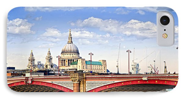 Blackfriars Bridge And St. Paul's Cathedral In London Phone Case by Elena Elisseeva