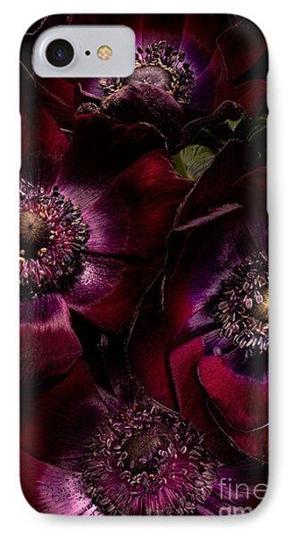 Blood Red Anemones Phone Case by Ann Garrett