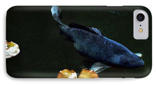 Blue Koi Lillies IPhone Case by Don Mann