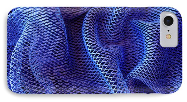 Blue Net Background IPhone Case by Carlos Caetano