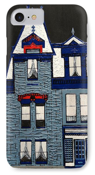 Blue Victorian Mansion Montreal Phone Case by Robert Handler
