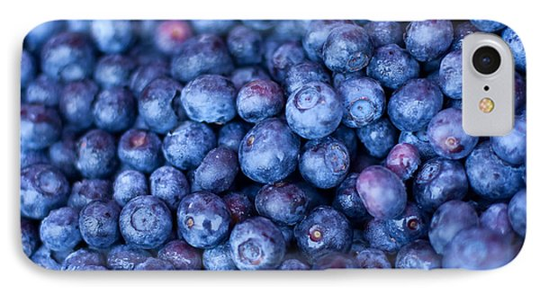 Blueberries IPhone 7 Case by Tanya Harrison