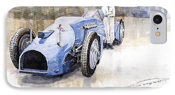 Bluebird 1933 Daytona Malkolm Campbell IPhone Case by Yuriy  Shevchuk