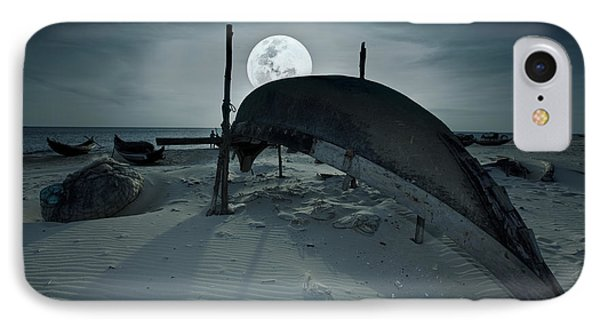 Boat And Moon Phone Case by MotHaiBaPhoto Prints
