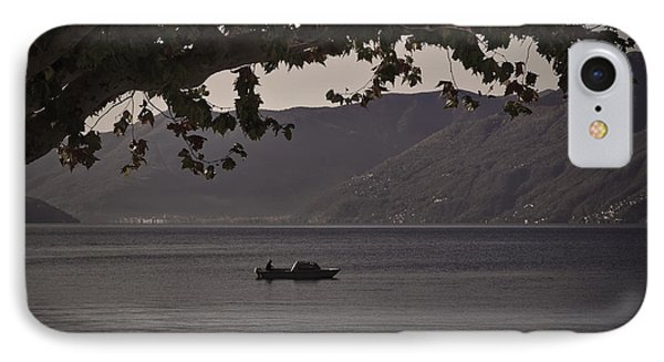 boat on the Lago Maggiore Phone Case by Joana Kruse