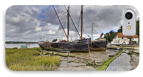 Boats On The Hard At Pin Mill Phone Case by Gary Eason