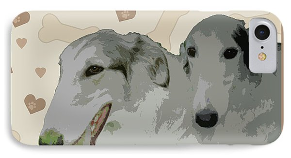 Borzoi Phone Case by One Rude Dawg Orcutt