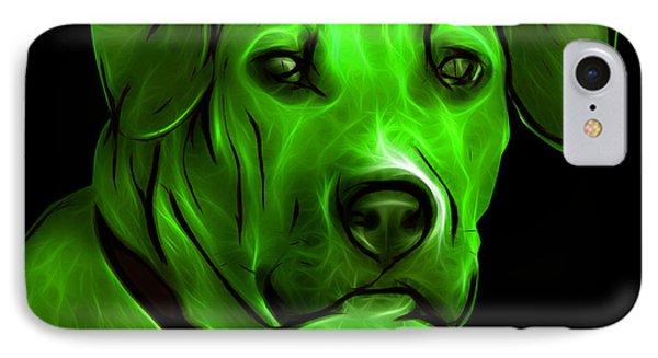 Boxer Pitbull Mix Pop Art - Green Phone Case by James Ahn