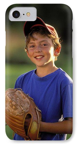 Boy With Baseball Glove Phone Case by John Sylvester
