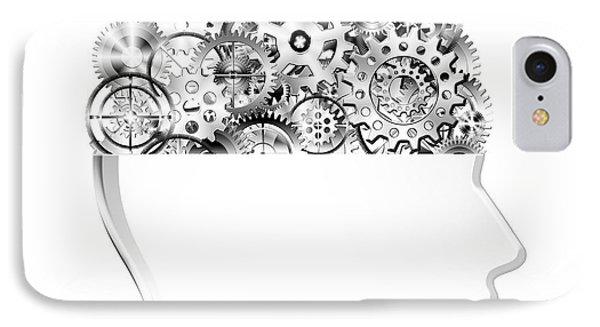 Brain Design By Cogs And Gears IPhone Case by Setsiri Silapasuwanchai