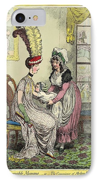 Breastfeeding, 18th-century Caricature Phone Case by Miriam And Ira D. Wallach Division Of Art, Prints And Photographsnew York Public Library