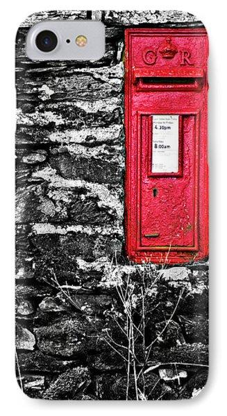 British Red Post Box IPhone Case by Meirion Matthias